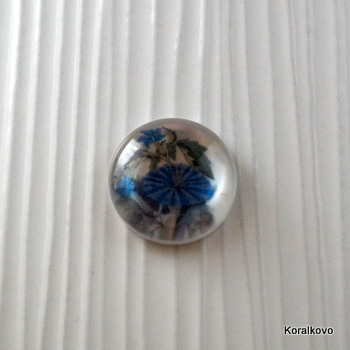 18mm kabošon kvietok 9, 1ks