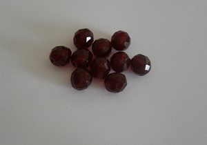 25ks 10mm ohňovka garnet